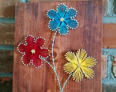 Tarro de masón flor cadena arte