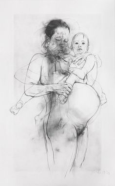 Jenny Saville, 'Reproduction drawing II (after the Leonardo cartoon),' 2009-2010, Gagosian Gallery