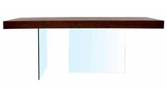 Modern Clio Dining Table Dark Walnut | Zuri Furniture #ZuriFurniture