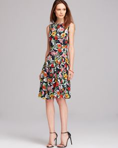 Jones New York Collection Sleeveless Floral Dress | Bloomingdale's