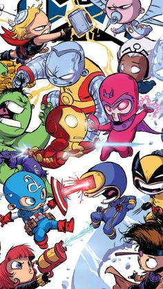 Cute Marvel Heroes Rip to all the heros with Metal cause Magento's there 😂 Avengers Cartoon, Marvel Avengers Comics, Marvel Cartoons, Baby Avengers, Marvel Art, Marvel Heroes, Disney Wallpaper, Cartoon Wallpaper, Chibi Marvel