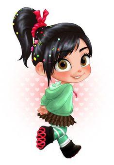 Wreck-It Ralph fan Art: Vanellope Cute Disney Characters, Disney Movies, Disney Pixar, Animation Film, Disney Animation, Cartoon Charecters, Vanellope Y Ralph, Vanellope Von Schweetz, Desenhos Gravity Falls