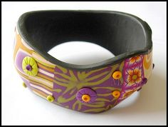 Inspired by the bracelet form from Maniguette, Dona Kato and Malodora. Polymer Clay Bracelet, Kato, Bracelets, Belt, Accessories, Inspired, Jewelry, Belts, Jewlery