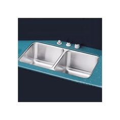 """Elkay 16""""x31"""" Double Bowl Undermount Stainless Steel Kitchen Sink with Reveal Rim"""
