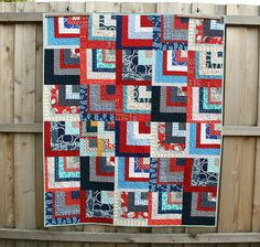 Quilts by Emily quilt based on Square Deal pattern in 'Block Party' as seen on Stitched in Color