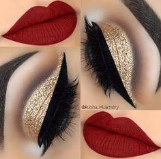 21 Red Lip Makeup Ideas 21 Rote Lippen Make-up Ideen Makeup Goals, Makeup Inspo, Makeup Inspiration, Makeup Tips, Makeup Ideas, Makeup Hacks, Red Lip Makeup, Eyeshadow Makeup, Face Makeup