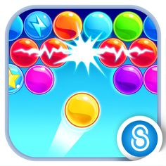 Bubble Mania™ http://bombapps.net/app/us/ios/bubble-mania/534342529/  Bubble Mania™ is an adventurous puzzle game in which you travel across an amazing colorful world to rescue the trapped babies. Your task in this app is to throw bubbles and match colors to drop your way to victory and to the highest score.