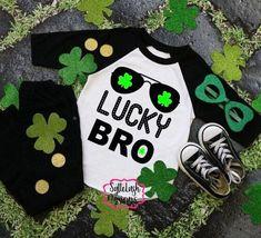 Kids St Patrick's Day Shirts | lucky bro | Boy's St Patrick's shirt | Kid's St Patrick's Day shirt | Toddler St Patrick's shirt Baby Boy Shirts, Cute Shirts, Shirts For Girls, St Pattys, St Patricks Day, St Patrick Day Shirts, Custom Clothes, Kids Girls, Toddler Girl