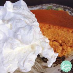 Homemade sweetened whipped cream