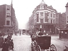 An Old Photo of the Covent Garden area Central London England