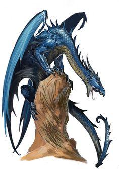 awesomedigitalart:  Young Blue Dragon by *BenWootten