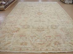 12 X 21 Oushak Style Hand Knotted Wool Beige Terracotta New Oriental Rug Carpet Traditionalturkishoriental