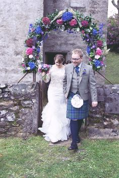 Seven Bridesmaids for a Scottish Bride ~ A Day Full of Pretty Peonies and Beautiful Blue Blooms...