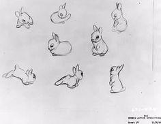 bunny rabbit designs from disney's bambi, thumper <3