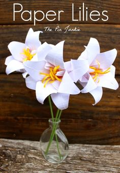 Paper Origami Lilies