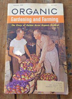 Items Similar To 1959 Organic Gardening And Farming Magazine   Rodale Press    Sustainable Living U0026 Backyard Farming, February 1959 On Etsy