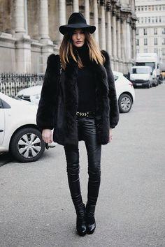 casaco pele fake streetstyle