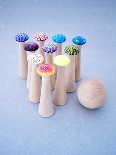 @Tammy Cline - these look like those drawer pulls you had your students decorate last year! <3
