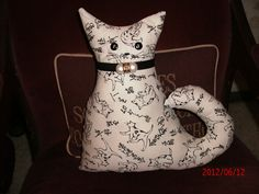 Free Stuffed Cat Pillow Patterns | Made This Cat Pillow From Piece Asian Pattern Fabricthe
