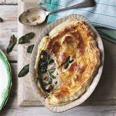 Kale, chestnut and mushroom pie Recipe   delicious. Magazine free recipes