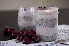 cherry chia seed parfait //raw - what's cooking good looking