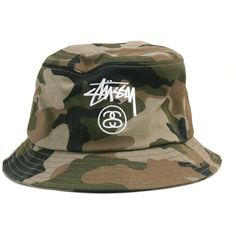 b7ee84d0f Stussy Stock Lock Bucket Hat Camo ( 32) ❤ liked on Polyvore featuring  accessories