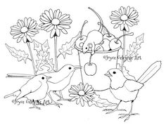 Printable Art to Color Coloring for Adults by FreshAirPrintables