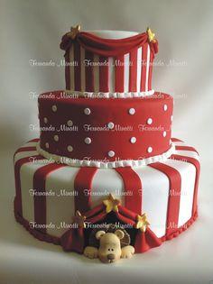 Bolo Circo Circus cake fake  Informações e orçamentos: ferminatti@gmail.com  www.fernandaminatti.com.br