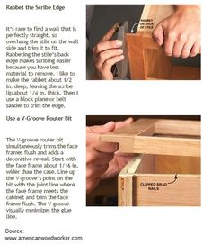 8 Tips for Building with Face Frames Side Wall, Face Framing, Woodworking Tips, How To Remove, How To Make, Cabinets, Frames, Rustic, Building
