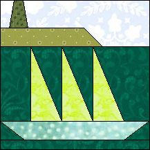 Block of Day for September 01, 2016 - Out to Sea-foundation piecing-The pattern may be downloaded until:Friday, September 30, 2016.