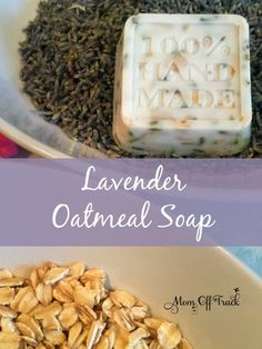 DIY Lavender Oatmeal Soap, DIY and Crafts, This simple DIY Lavender Oatmeal Soap uses oatmeal, lavender buds and essential oils. Smells heavenly and would make the perfect handmade gift. Handmade Soap Recipes, Handmade Soaps, Diy Soaps, Handmade Headbands, Handmade Rugs, Handmade Crafts, Lavender Buds, Lavender Soap, Oatmeal Soap