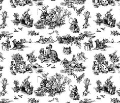 Women of Science and Learning Toile de Jouy fabric by