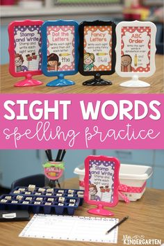 Students will love writing their sight words in fun ways with these printable worksheets! They are perfect to practice spelling sight words in centers, small groups, or send them home for homework! Spelling Task Cards, Sight Word Spelling, Sight Word Centers, Sight Word Practice, Sight Word Activities, Sight Words, Spelling Practice, Kindergarten Special Education, Miss Kindergarten