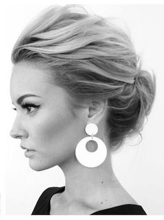 Link doesn't work for some reason, but I love her hair and makeup! Updos for Women Medium Hair -