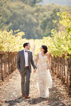 LOVING everything about this. The dress, the scenery - amazing. Sonoma Vineyard Wedding