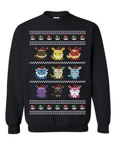 Pokemon Ugly Christmas Sweater gift sweatshirt Tshirt unisex adult size S-3XL