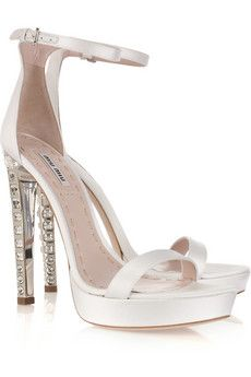 83980f49ecc05 Crystal-heel silk-satin platform sandals by Miu Miu Bridal Shoes