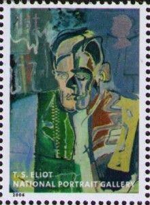 T. S. Eliot auf Briefmarke aus Großbritannien von 2006