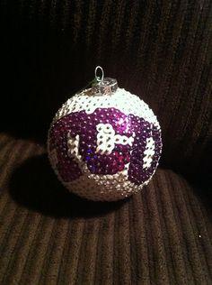 TCU Texas Christian Sequin Christmas Ornament by AutsomeIdeas, $18.00 what a great DIY idea