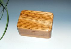 Small Box with Tray in Walnut and Zebrawood - Desk BoxOffice Acessory Gift For Men - Handmade Jewelry Box by BurlWoodBox - Small Wood Box by BurlWoodBox