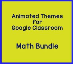 Decorate your Math Google Classroom with these fun animated headers! This bundle includes four different theme packs - 16 banners. Very easy to use. Instructions are included.The banners will appear less bright in Google Classroom as there is a filter in the heading section which alters the colors... Google Classroom App, Math Classroom, Easel Activities, Trigonometry, Teacher Tools, Math Resources, Alters, Teacher Newsletter, Classroom Management