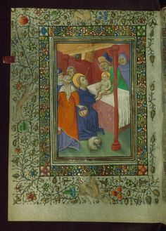 Sexy Codicology: Book of Hours, Presentation in the Temple, Walters...