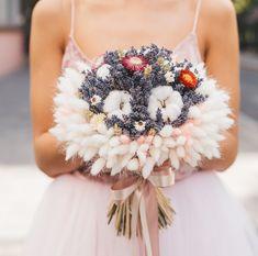 Blue Wedding Dresses, Floral Wedding, Wedding Bouquets, Dried Flower Wreaths, Dried Flower Bouquet, Bride Flowers, Wedding Flowers, Hand Bouquet, Flower Dresses