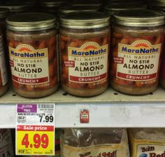 Kroger: WOW! $2.99 MaraNatha Almond Butter after big sale and rare high-value coupon! - http://www.couponaholic.net/2015/02/kroger-wow-2-99-maranatha-almond-butter-after-big-sale-and-rare-high-value-coupon/