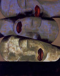 Francesco Clemente (Italian, b. 1952)   Friendship, 1991   Tempera on linen