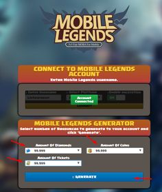 Mobile legends working after update no ban. Best diamonds generator for free Mobile Connect, Legend Games, Play Hacks, Mobile Legend Wallpaper, Mobile Legends, News Sites, Best Mobile, Online Work, Cheating