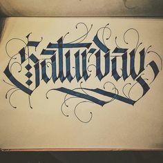 Saturday - Calligraphy by TYPEWA
