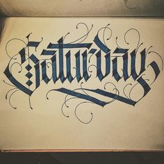 Saturday - Calligraphy by TYPEWA
