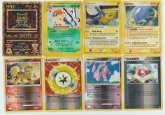 Pokemon lot of 8 cards WITH RARES ALL PICTURED Not Perfect with Ancient Mew