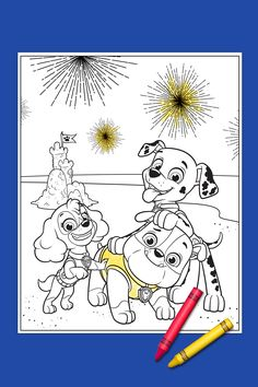 Your PAW Patrol 4th Of July Coloring Page